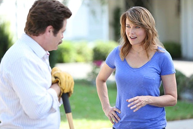 parks and recreation season 6 lucy lawless to return