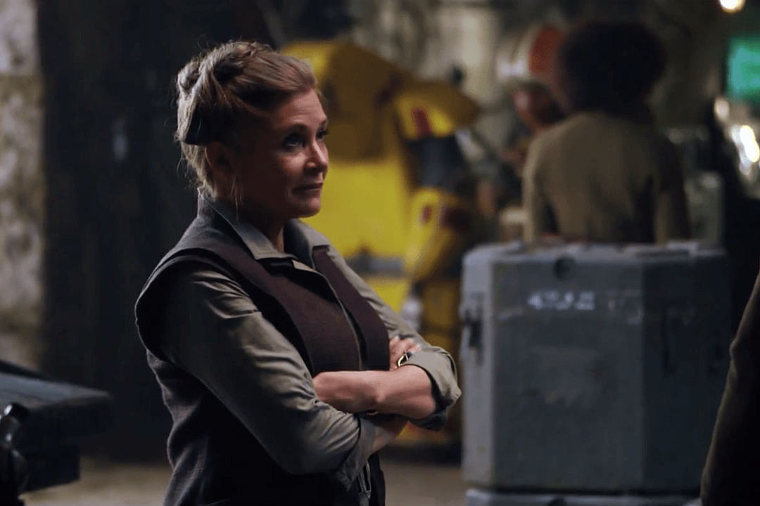 carrie fisher is killing it in these  u2018force awakens