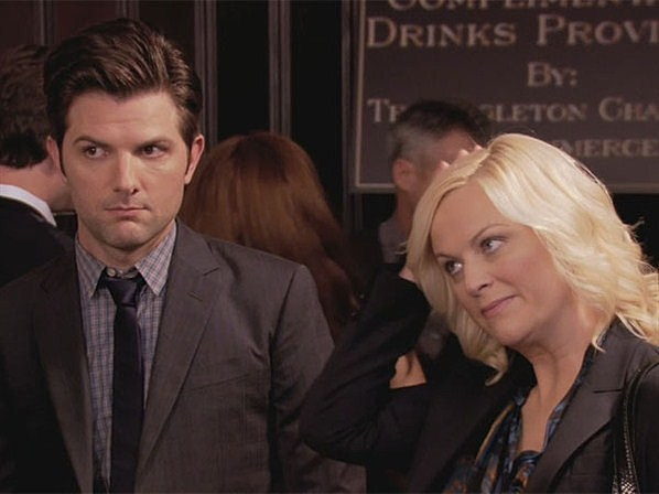 Adam Scott and Amy Poehler
