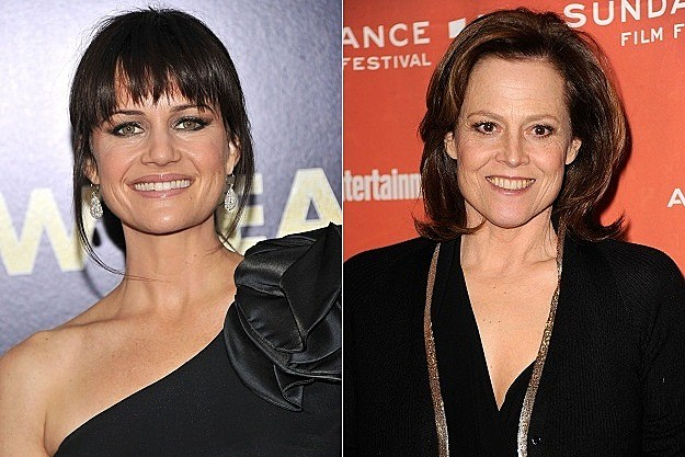 Carla Gugino and Sigourney Weaver