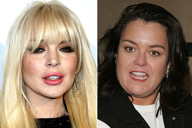Lindsay Lohan and Rosie O'Donnell