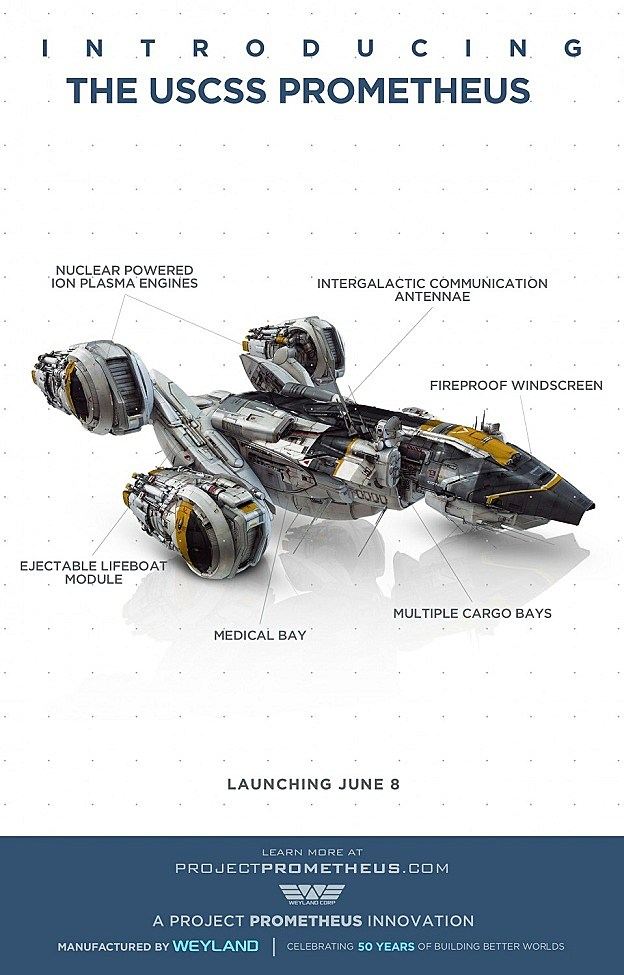 Prometheus Spaceship Poster