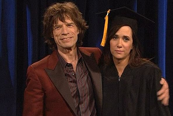 Mick Jagger and Kristen Wiig