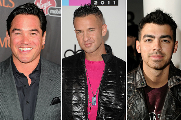 Dean Cain, Mike Sorrentino and Joe Jonas