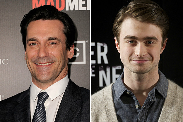 Jon Hamm and Daniel Radcliffe