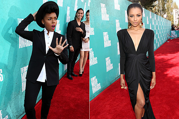 2012 MTV Movie Awards Best Dressed - Janelle Monae, Kat Graham