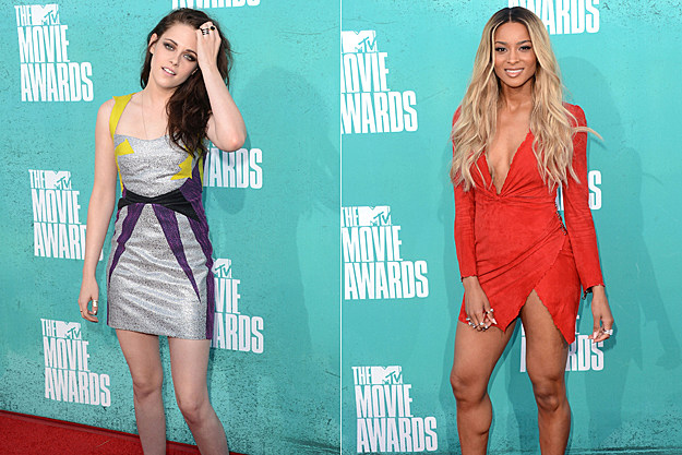 2012 MTV Movie Awards Worst Dressed - Kristen Stewart and Ciara