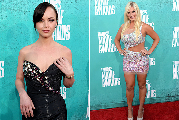 2012 MTV Movie Awards Worst Dressed - Christina Ricci and Brooke Hogan