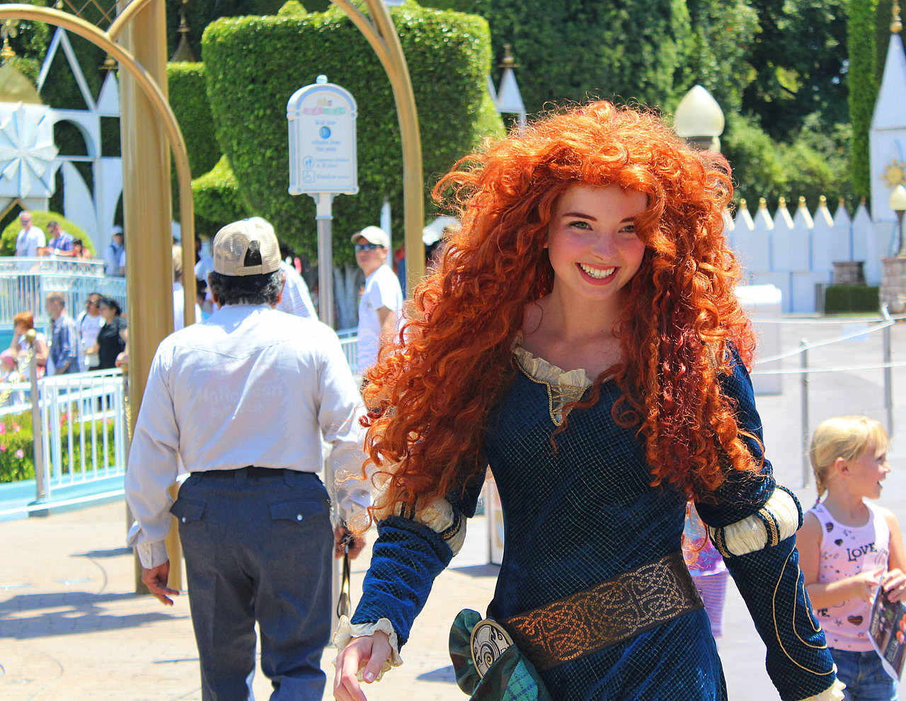 Disneyland s princess merida looks just like the real thing