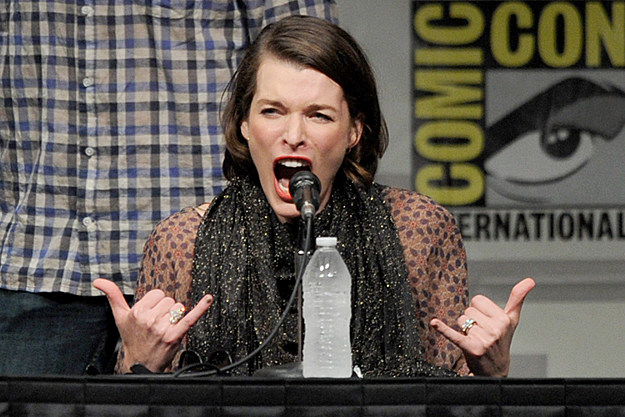 Comic-Con 2012 Milla Jovovich at 'Resident Evil' panel