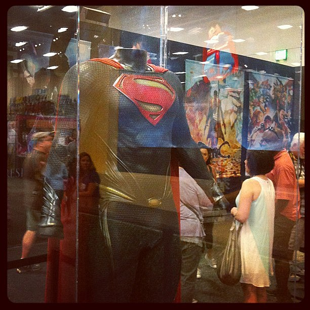 Comic-Con 2012 - Superman suit from 'Man of Steel'