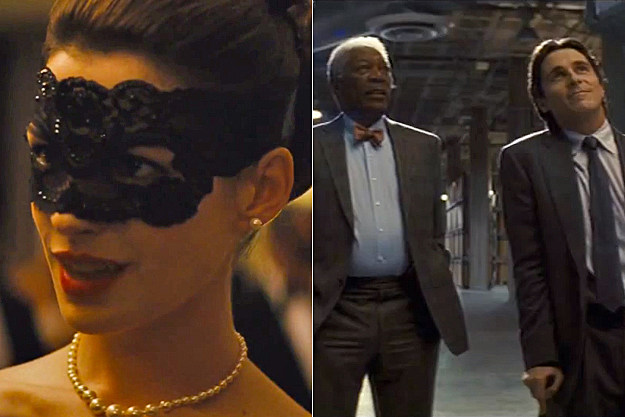 'The Dark Knight Rises' clips - Catwoman + The Bat
