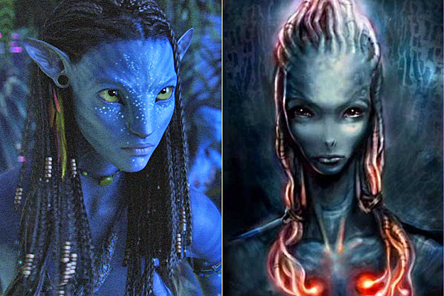 Neytiri early concept art