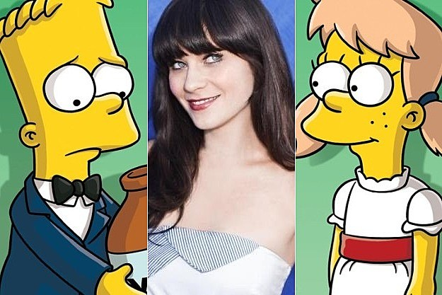 The Simpsons Season 24 Zooey Deschanel
