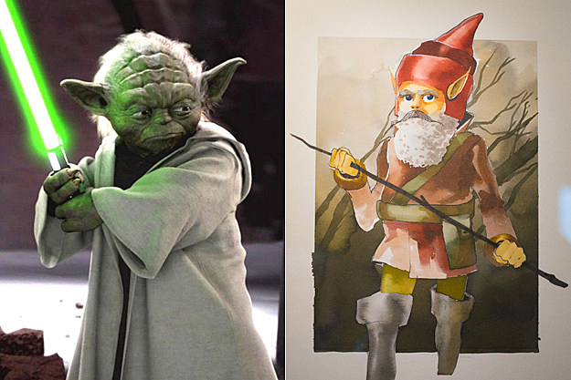 Yoda early concept art