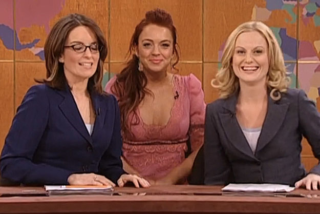 Lindsay Lohan Tina Fey Amy Poehler