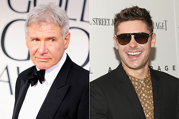Harrison Ford + Zac Efron