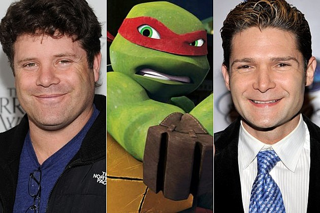 Teenage Mutant Ninja Turtles Goonies Sean Astin Corey Feldman