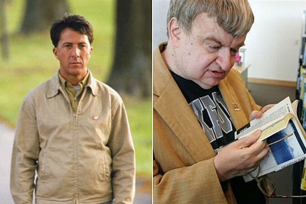 Figure 1: Dustin Hoffman's character (left) in the movie Rain Main was based on real life savant Kim Peek (right).