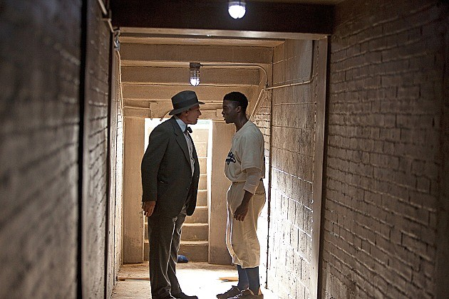 HARRISON FORD and CHADWICK BOSEMAN in '42'