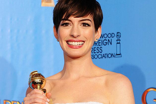 Anne Hathaway 2013 Golden Globes