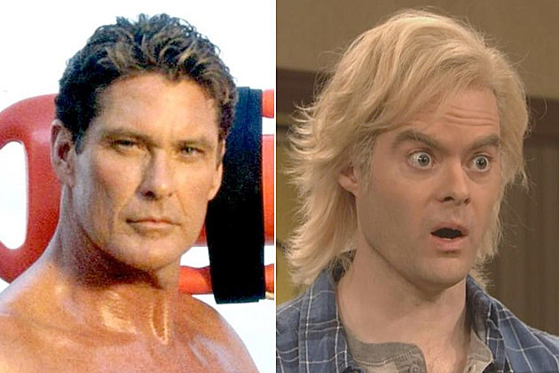 Baywatch David Hasselhoff Bill Hader