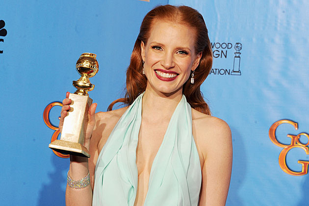 Jessica Chastain 2013 Golden Globes