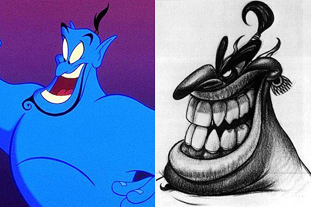 Early Movie Concept Art Genie Aladdin