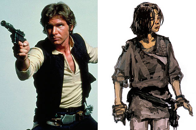 Han Solo Star Wars Concept Art