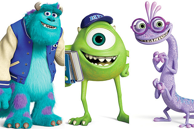 Monsters University character posters