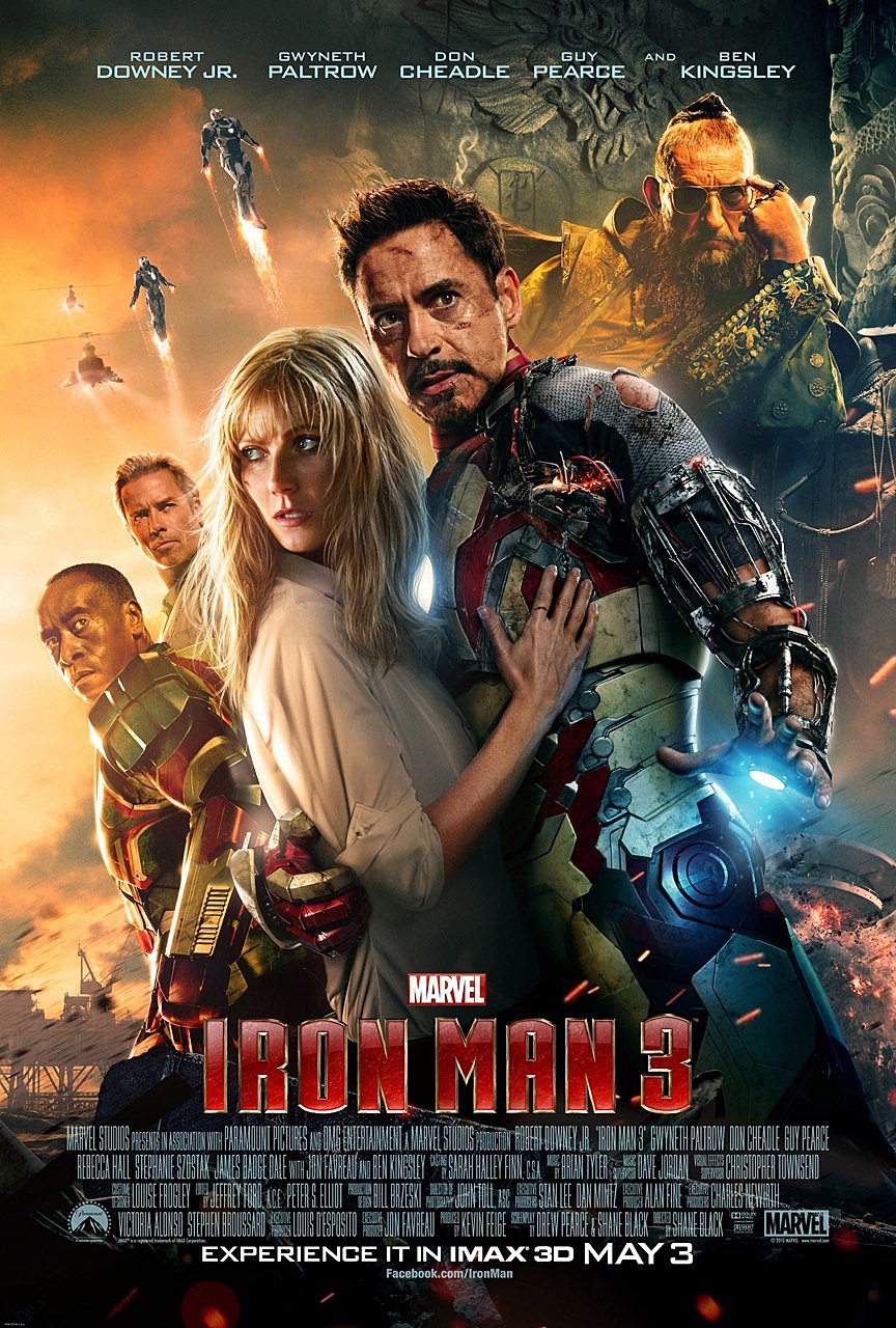 Iron man 3′ poster brings the whole gang together