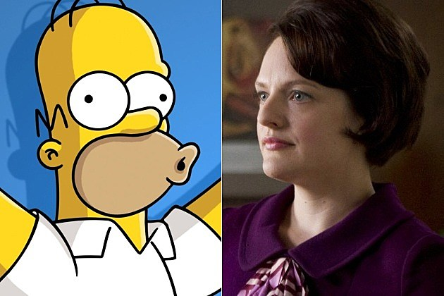 The Simpsons Mad Men Elisabeth Moss Season 25