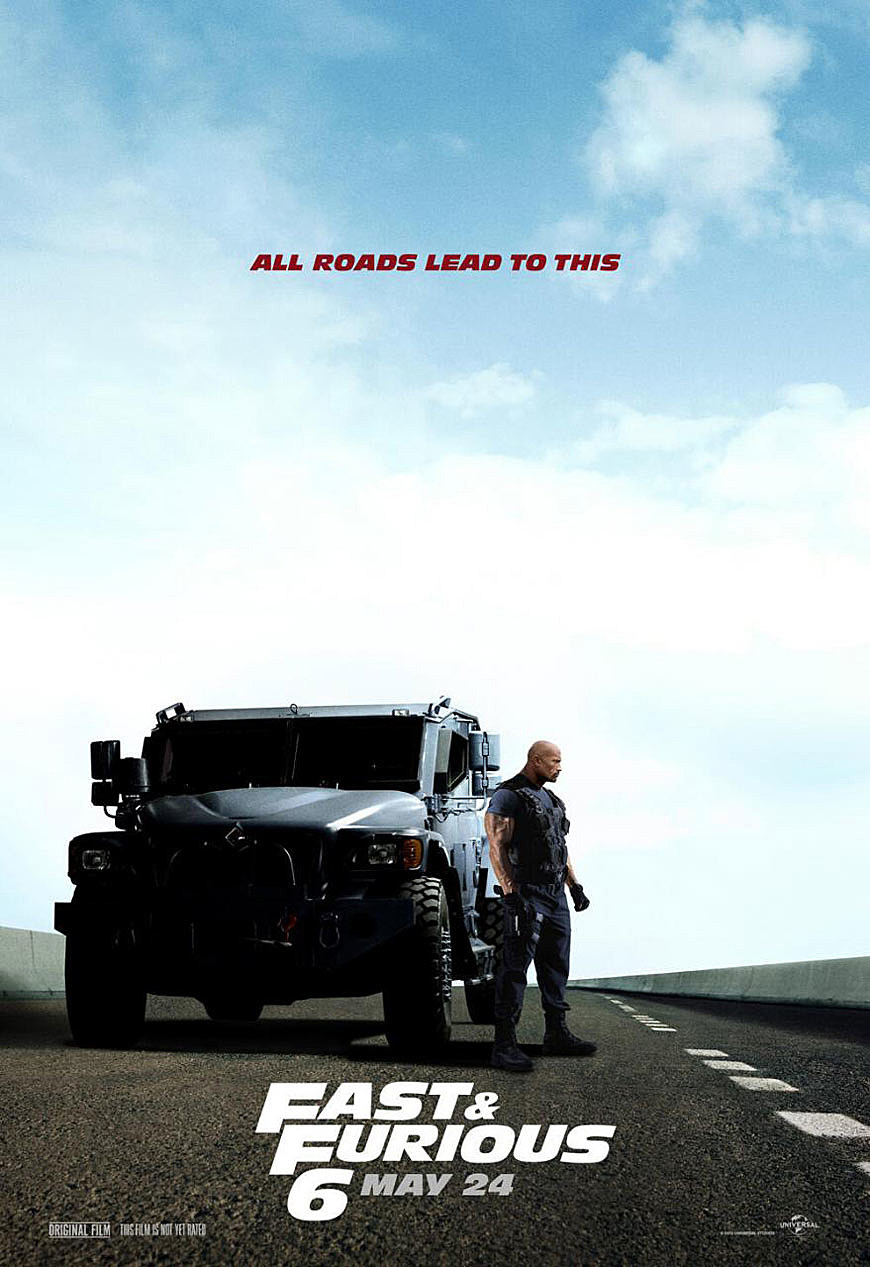 Fast and Furious 6 Poster The Rock