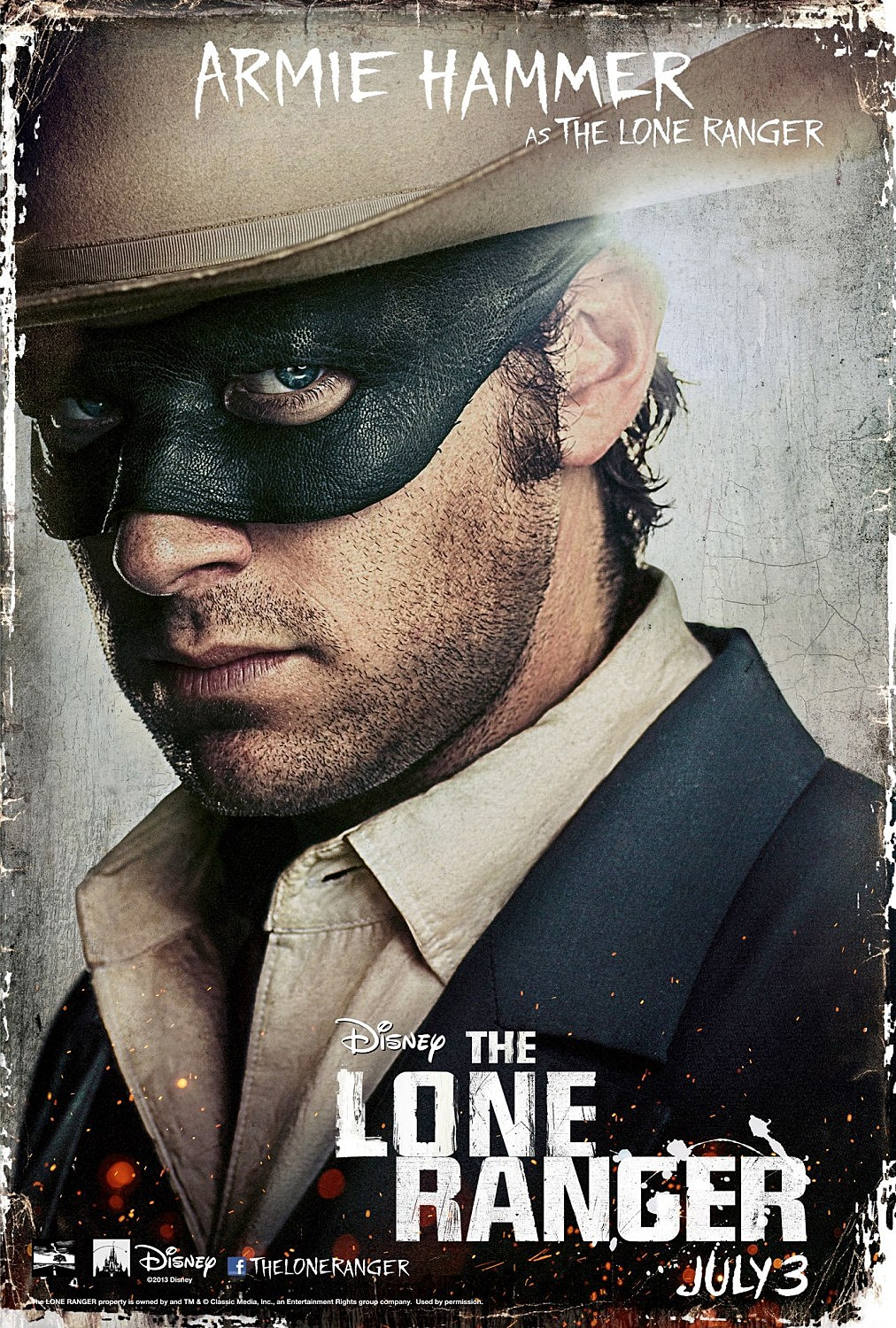 New 'The Lone Ranger' Posters Show Off Johnny Depp and Armie Hammer [
