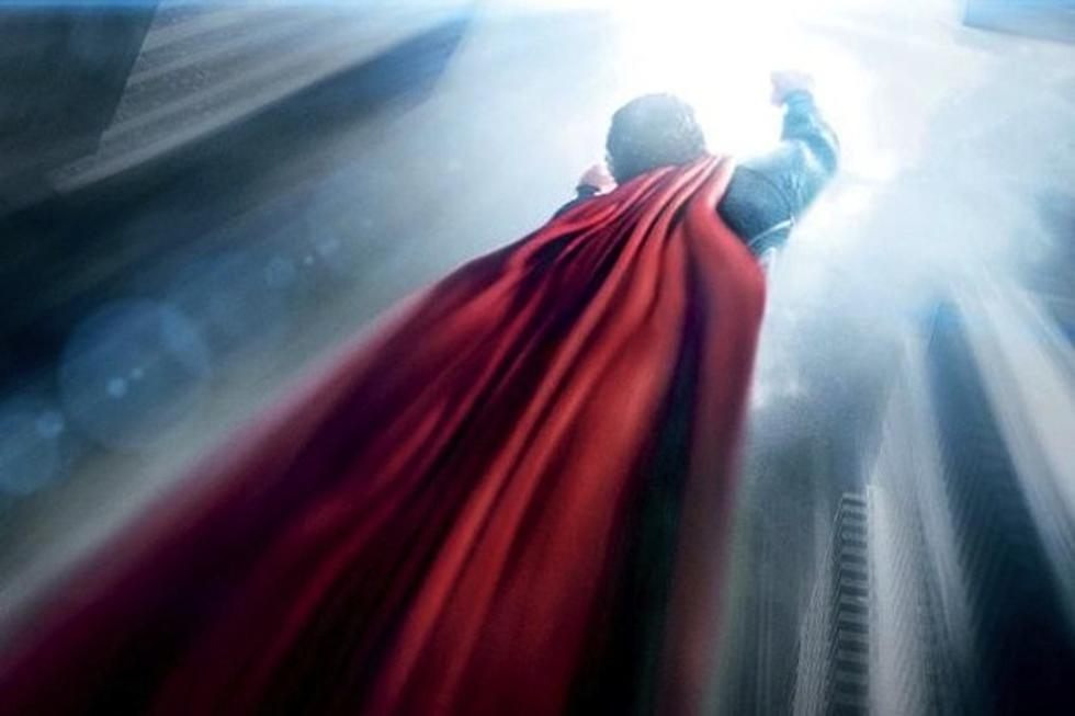 New Man Of Steel Poster Has Superman Flying High