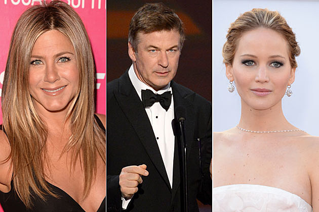 Jennifer Aniston, Alec Baldwin, Jennifer Lawrence