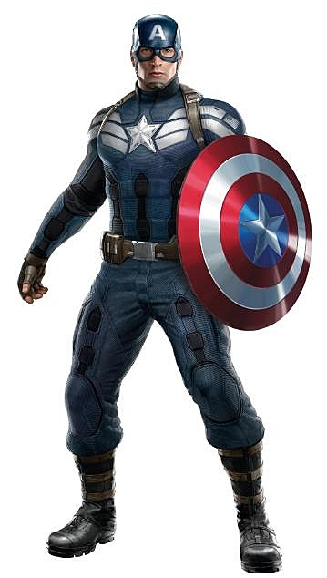 39 captain america 2 39 check out cap 39 s new costume. Black Bedroom Furniture Sets. Home Design Ideas