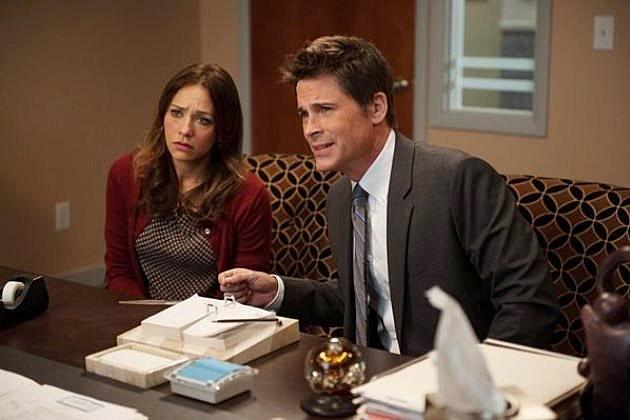 Parks and Recreation Season 6 Rob Lowe Rashida Jones Leaving