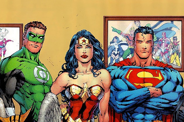 Superman, Green Lantern, Wonder Woman