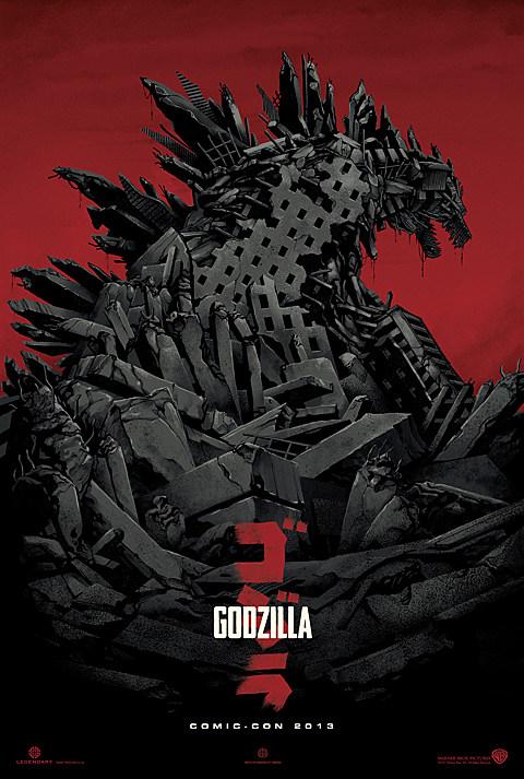 Godzilla Poster Comic-Con 2013