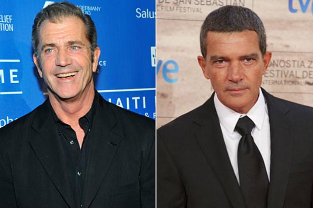 Mel Gibson Antonio Banderas Expendables 3