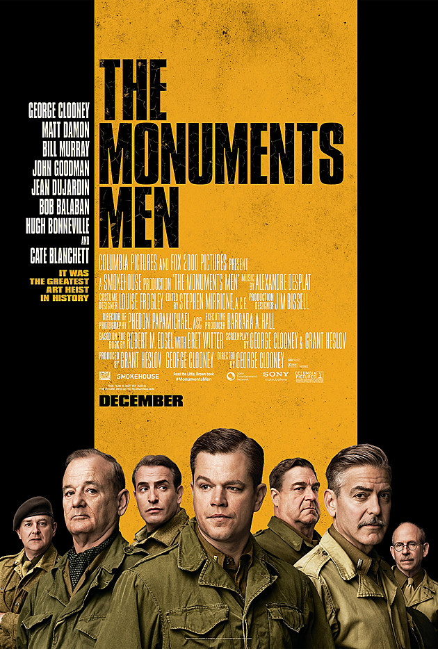 the monuments men poster shows off the years best cast