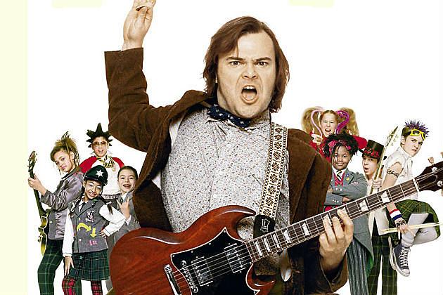 """Los actores de """"Escuela de rock"""", ayer y hoy."""