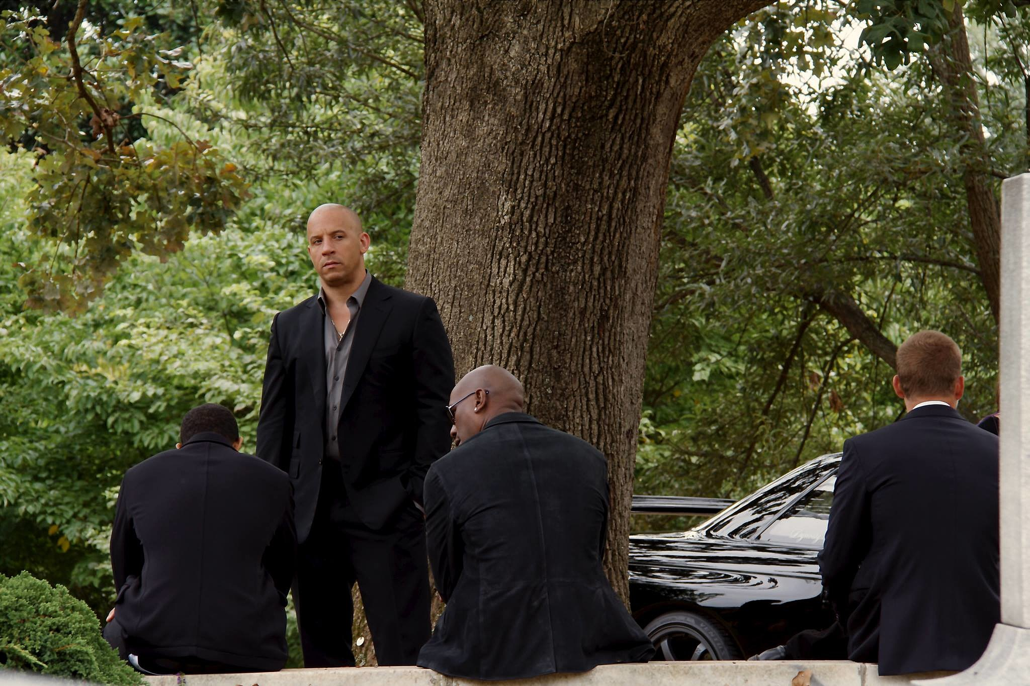 fast and furious 7 funeral Fast and Furious 7′: Vin Diesel Teases a Funeral Scene in New Image