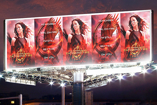 The Hunger Games Catching Fire Poster Outdoor