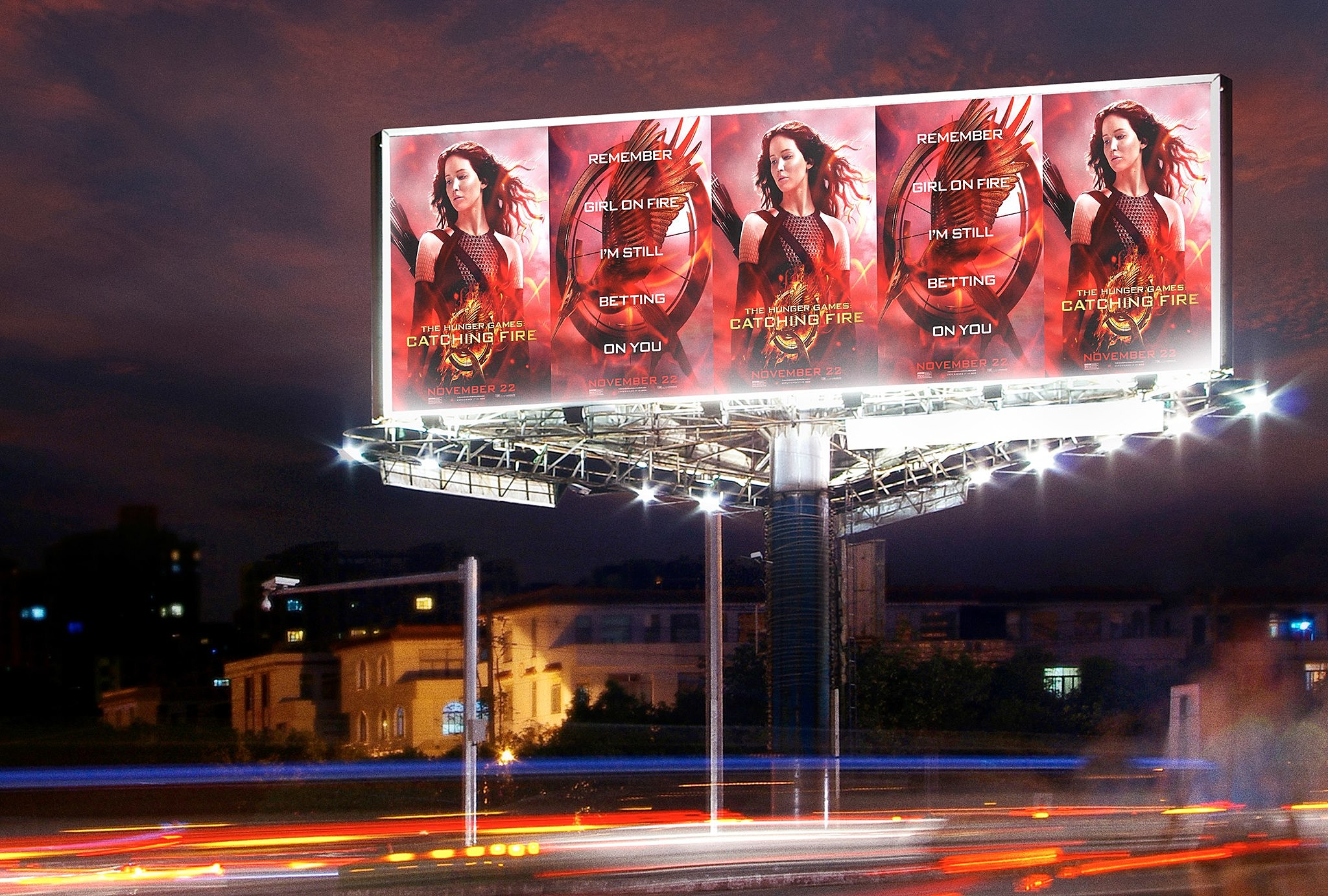The Hunger Games Catching Fire Outdoor Poster