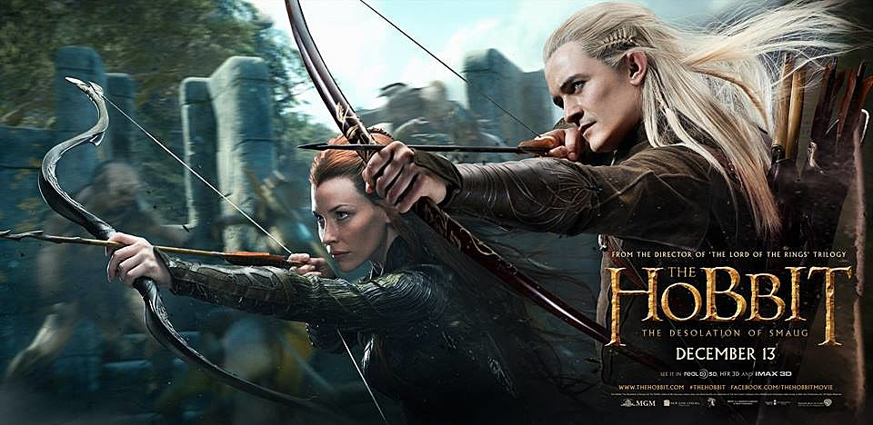 The Hobbit 2 Poster Tauriel Legolas