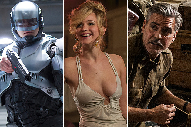 RoboCop American Hustle Monuments Men
