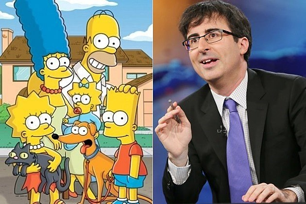 The Simpsons Season 26 Renewed John Oliver
