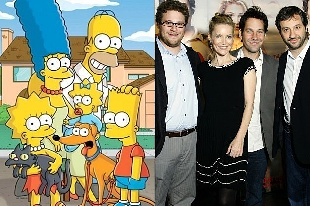 The Simpsons Judd Apatow Channing Tatum Seth Rogen Paul Rudd